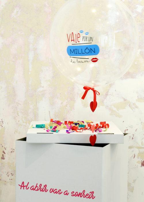 globobox globo helio caja sorpresa regalo san valentin aniversario fiesta cumpleaños hospital